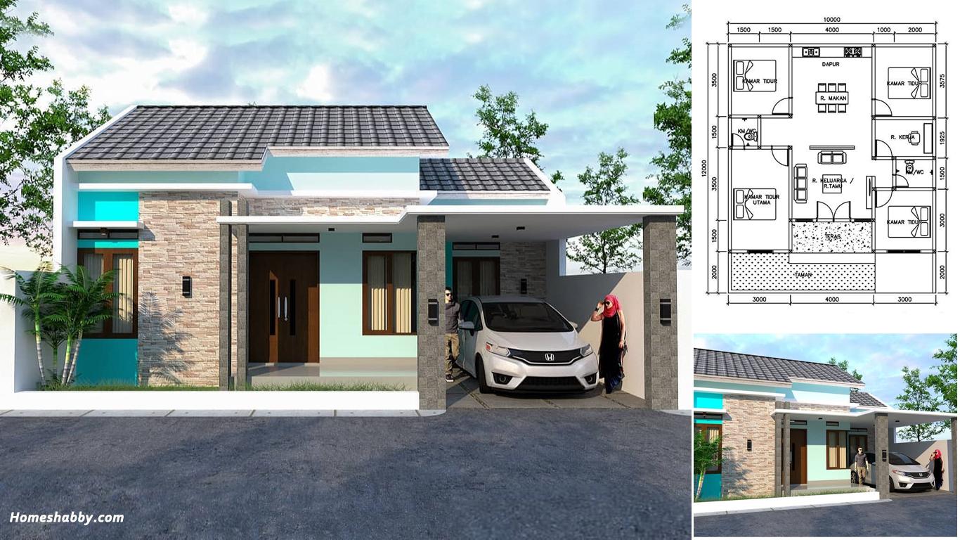 Desain Dan Denah Rumah Nuansa Biru Ukuran 10 X 20 M Tampil Modern Homeshabby Com Design Home Plans Home Decorating And Interior Design