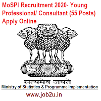 MoSPI Recruitment 2020- Young Professional/ Consultant (55 Posts) Apply Online