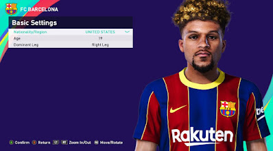 PES 2021 Faces Konrad de La Fuente by Rachmad ABs