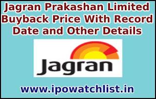 Jagran Prakashan Limited Buyback