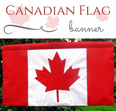 canadian flag banner by Monica Curry