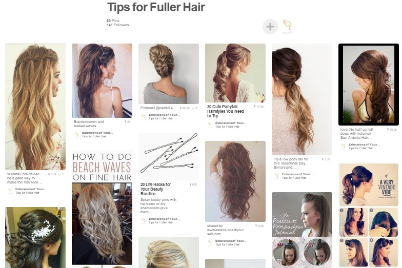 Extensions of yourself hair inspiration and tips for fuller hair are boards i think youll like ill be adding new pins to them daily so please join extensions of yourself on pmusecretfo Image collections