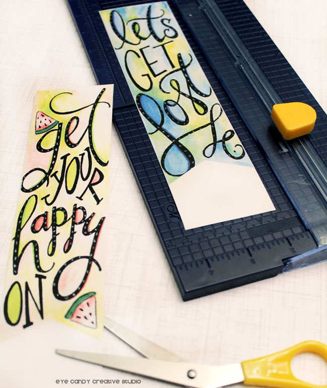 supplies need to make bookmarks, free bookmarks, watercolor