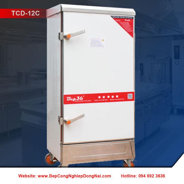 Tủ nấu cơm công nghiệp 12 khay dùng điện TCD-12C