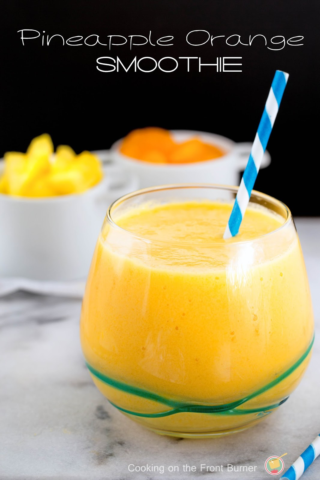 You will love making your own smoothie with these tropical flavors from Cooking on the Front Burner