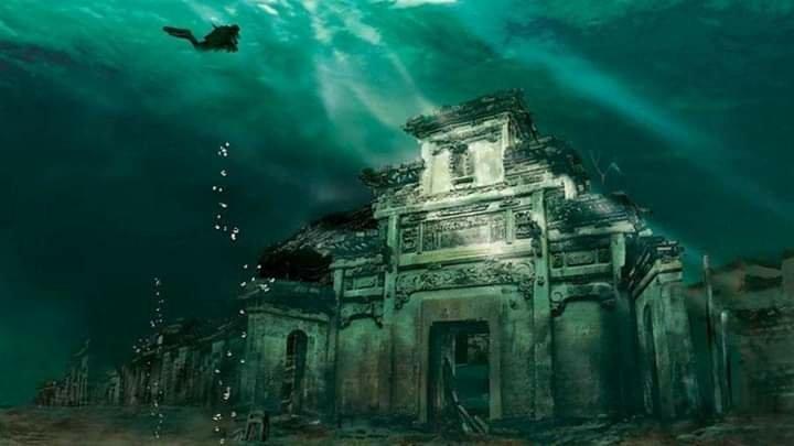 Kota-Kota Kuno di Cina yang Tenggelam ke Dasar Danau
