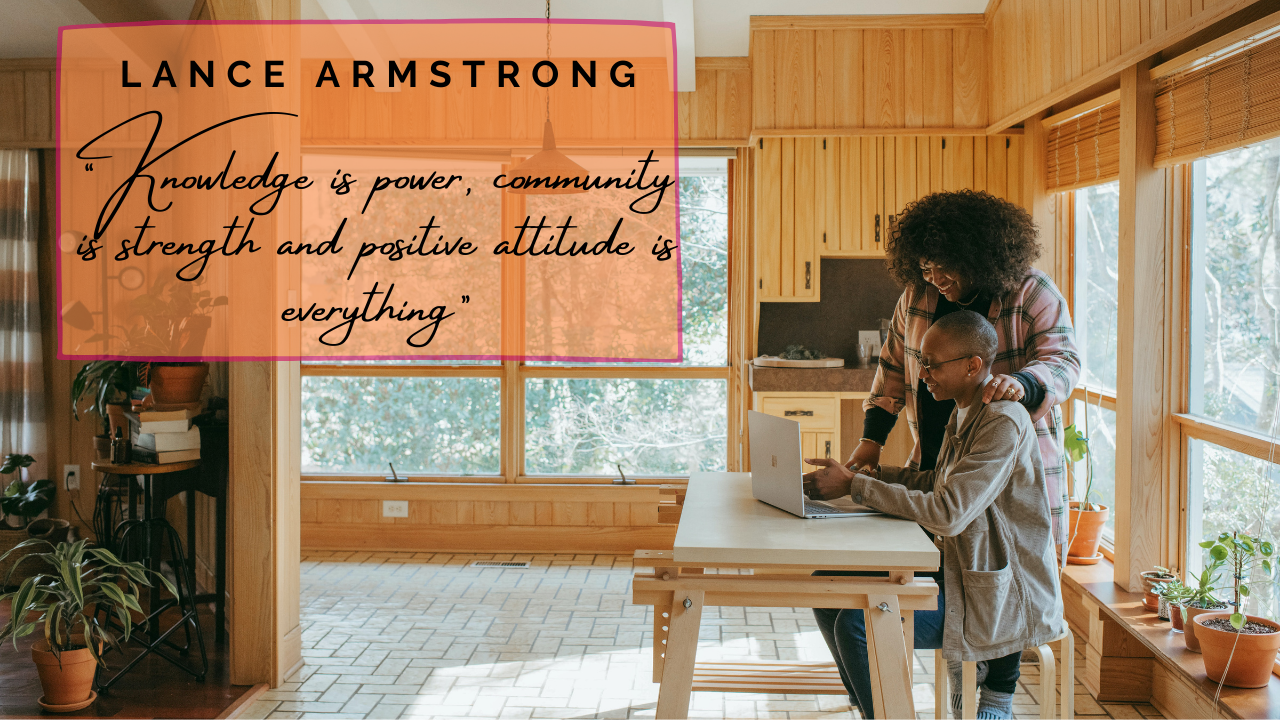 Quote, Lance Armstrong, knowledge, community, power