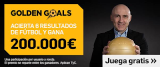 betfair Golden Goals 200.000€ premios 6 abril 2019