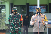 Polres, Kodim, Satpol PP dan Damkar Laksanakan Operasi Yustisi Penaganan Covid-19