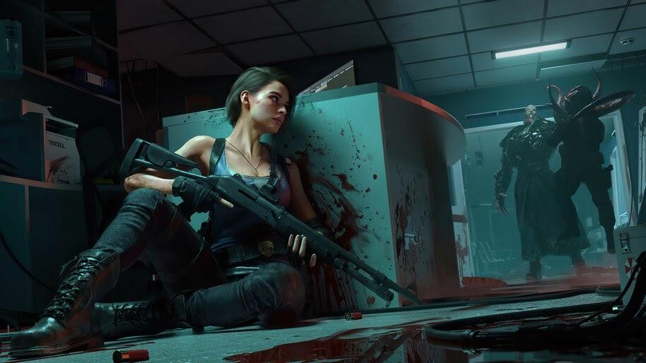 Jill Valentine, Nemesis, Resident Evil 3 Remake, 4K, #3.2788