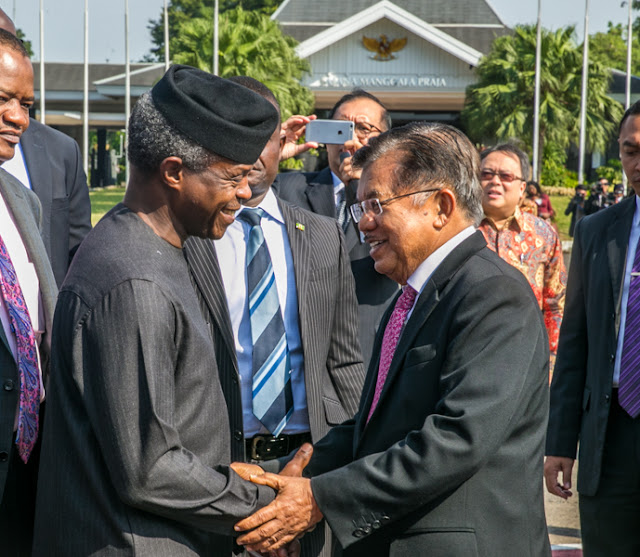 Image result for Vice President Yemi Osinbajo and his Indonesian counterpart Jusuf Kalla