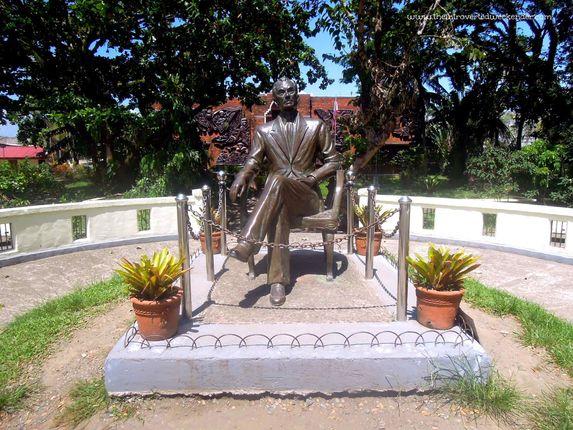 Life-size bronze statue of President Manuel L. Quezon in Baler