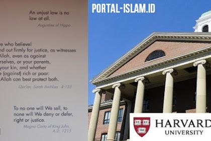 Ayat Al-Quran Sudah Lama di Dinding Pintu Masuk Harvard University Ternyata Ini Bunyinya