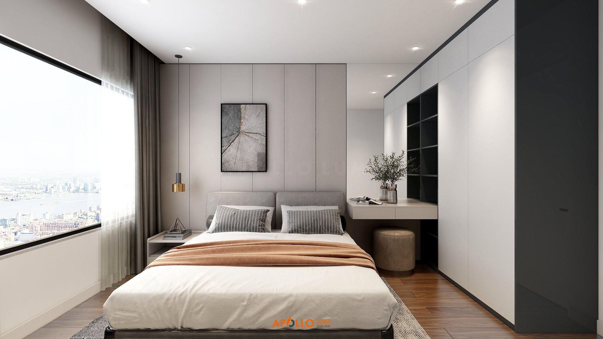 Thiết kế nội thất căn hộ 3 phòng ngủ (B.10) The Matrix One Mễ Trì