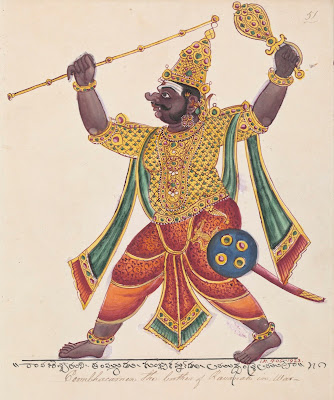 The demon Kumbhakarna