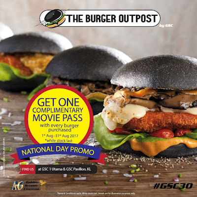 The Burger Outpost Free GSC Movie Ticket Promo