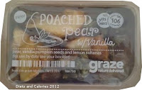 Graze box poached pear snack