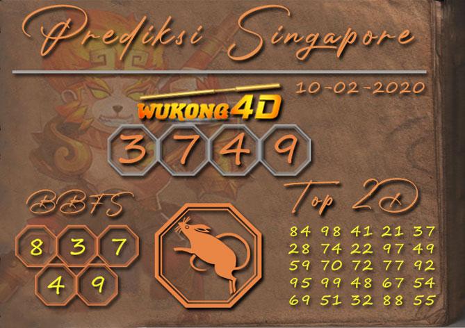 Prediksi Togel SINGAPORE WUKONG4D 10 FEBRUARI 2020