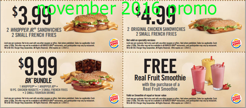Burger king online coupons august 2019
