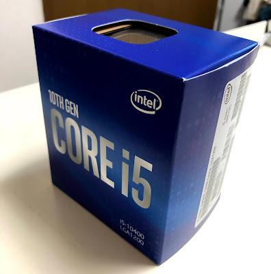 Intel Core i5 10400のパッケージ