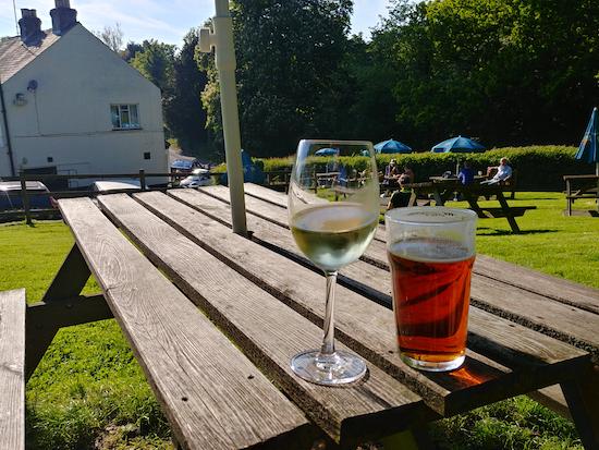 The Woodman beer garden