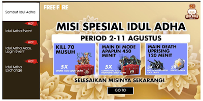 Cara Dapetin Common Exchange Token dan Sheep badge di Event Idul Adha Free Fire