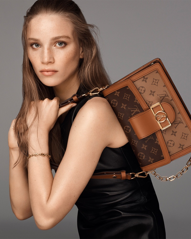 Rebecca Leigh Longendyke fronts Louis Vuitton Dauphine bag 2021 campaign.