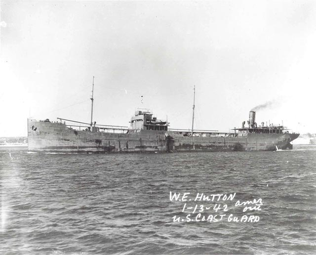 US tanker W.E. Hutton, sunk on 19 March 1942 worldwartwo.filminspector.com