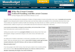 MassBudget: How Does the 2020 Census Impact Federal Funding for Massachusetts?