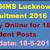 SGPGIMS Lucknow Recruitment 2016 Apply Online for 163 Sr Resident Posts