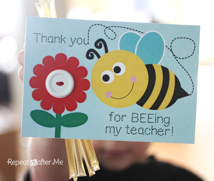 bee themed back to school teacher appreciation gift and printable