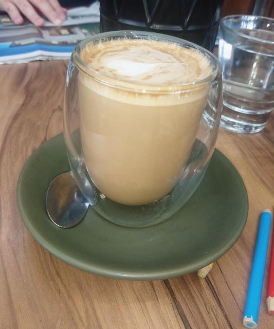 The Scented Garden Cafe, Croydon, latte