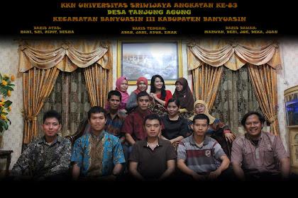 Galeri Foto KKN UNSRI Angkatan 83 Desa Tanjung Agung kecamatan Banyuasin III Kabupaten Banyuasin