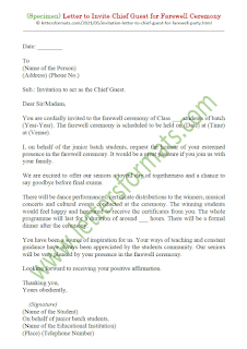 invitation letter to chief guest for farewell party
