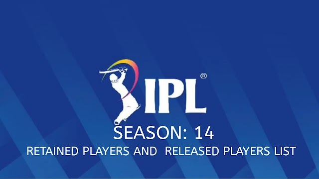 IPL 2021 all teams retained players and Released players அறிக்கை