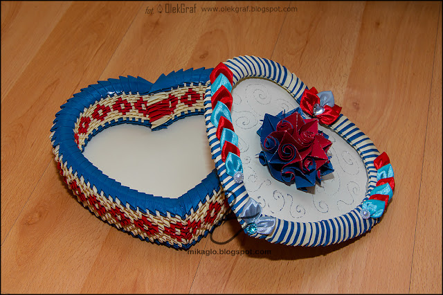 372. Prezent na walentynki / 3d origami Valentine's Day heart box