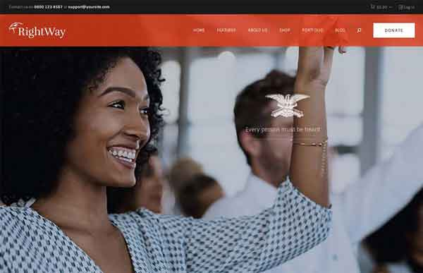 Rightway Best Political WordPress Themes 2020