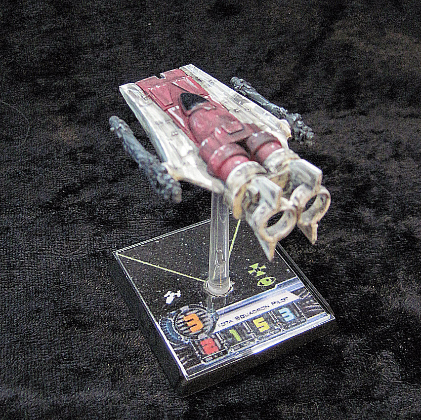 invivos: X-Wing Miniatures game: A-Wing prototype finished (scratchbuild)