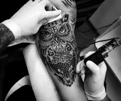 owl tattoo designs for females