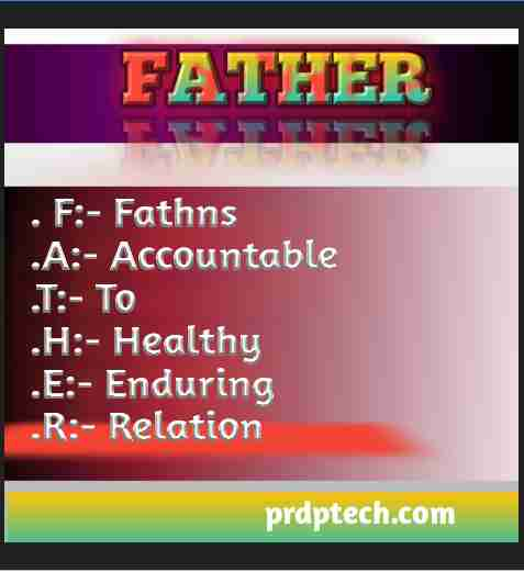 Full form of father in hindi photo. Father full form photo.