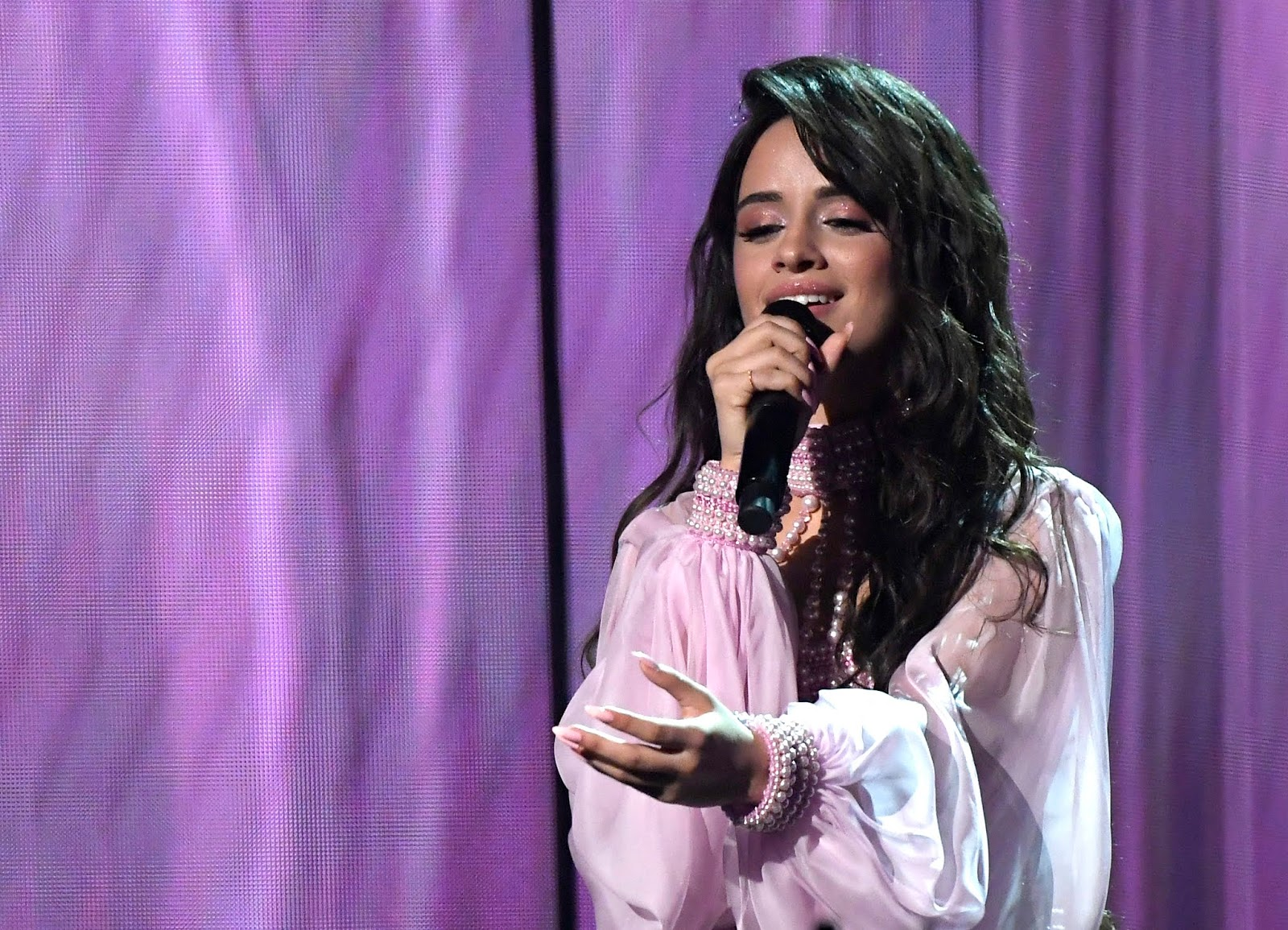 """Camila Cabello performed 'Romance' ballad """"First Man"""" at the GRAMMYs to her crying father"""