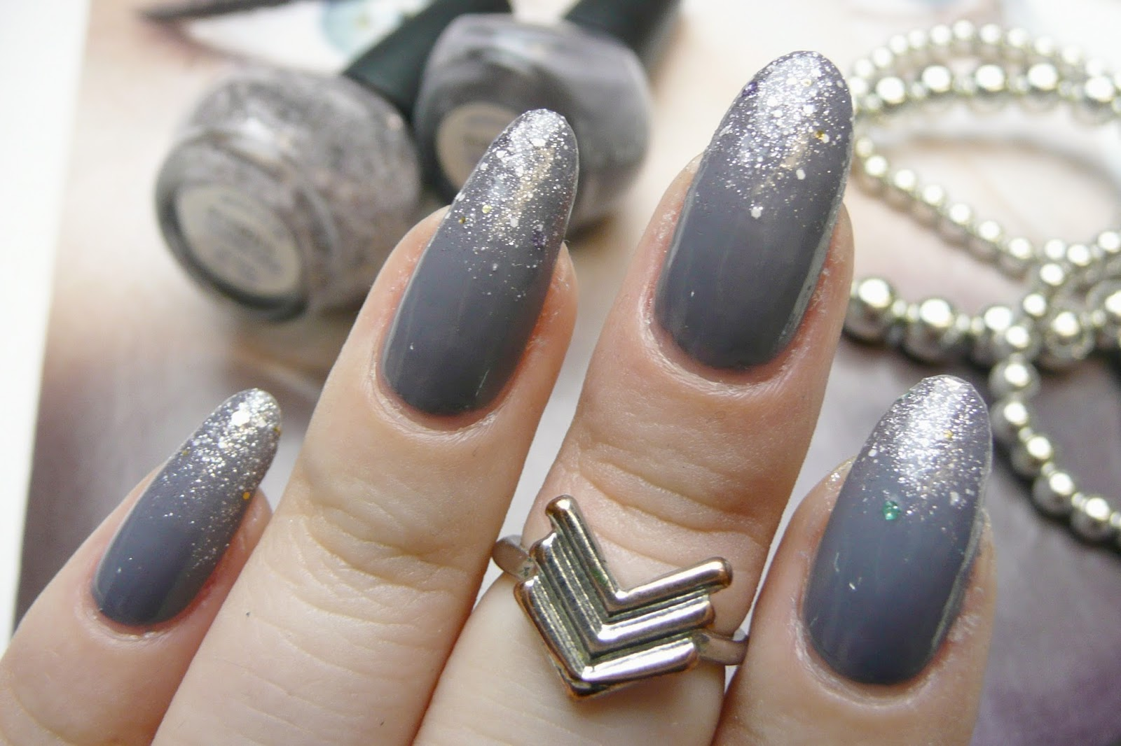 Gray Nail Polish With Glitter Hireability
