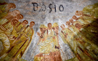 Fornai fresco detail with Bosio's name [Credit: Pontifical Commission for Sacred Archaeology]
