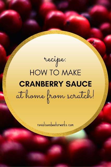 recipe for cranberry sauce from fresh berries