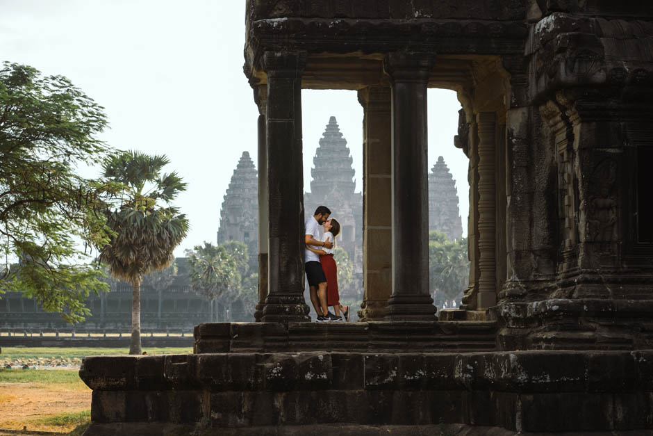 Honeymoon Couple at Angkor Wat