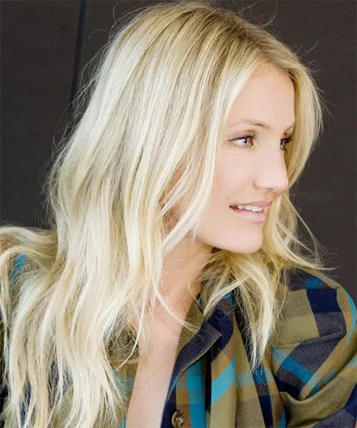 Cameron Diaz Center Part Blonde Hair With Slight Waves