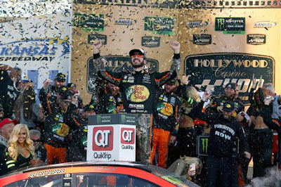 When Truex won in the past, it had just been the No. 78 crew that gathered in Victory Lane. Sunday, the No. 77 crew also joined Truex's team to celebrate a win and a life.