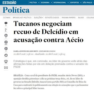 Tucanos negociam recuo de Delcídio em acusação contra Aécio Neves e querem que senador acuse Dilma