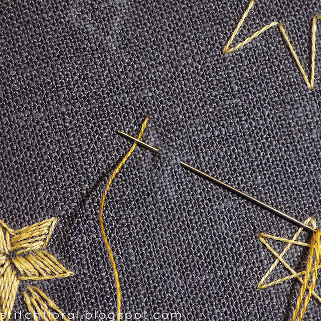 Easy embroidery: how to stitch stars