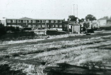 View across the station yard to cattle dock after rack lifting  1970
